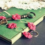 Cerise Pink Flower Necklace