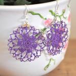 Delicate Lacy Earrings - Byzantium