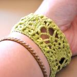 Lace Cuff with Vintage Buckle in Li..