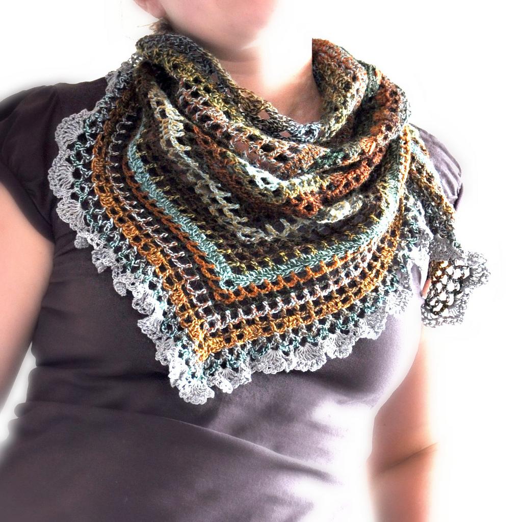 Triangular Crochet Shawl Made To Order On Luulla